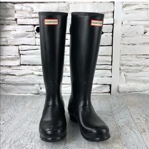 EUC 💫 Hunter Original Tall Rain Boots Black Sz 6